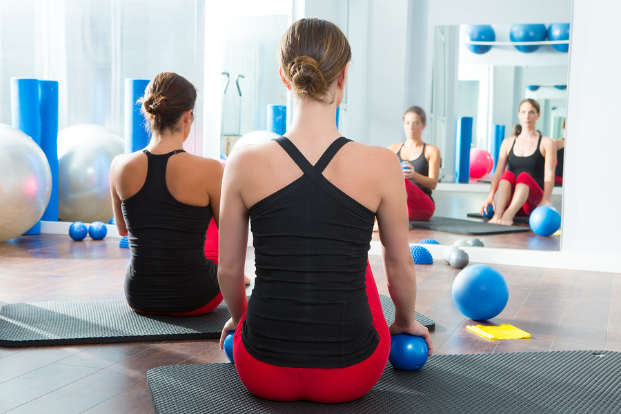 Pilates-toning-ball-women